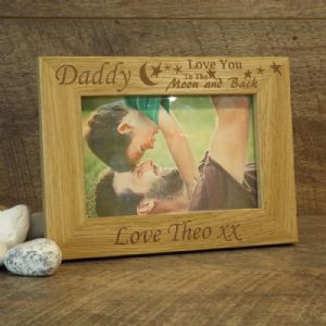 Personalised Daddy 'Love You To The Moon & Back' Photo Frame